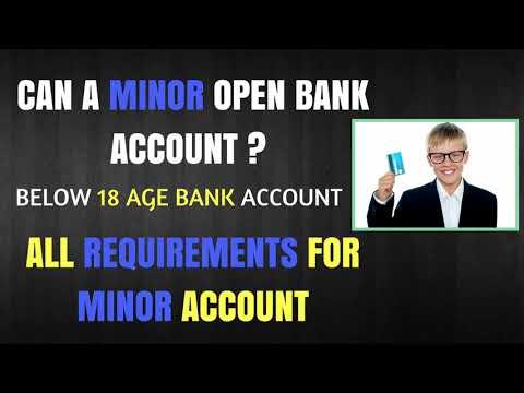 Can a Minor Open Bank Account ? 18 Age Below Bank account Opening Procedure | Minor account details