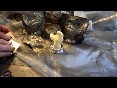 Craft Project Using Antique Chocolate Molds for Thanksgiving Turkey Individual