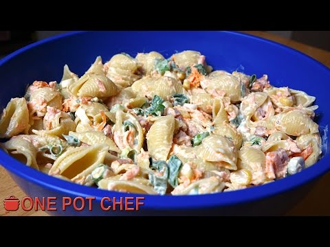 Ultimate Creamy Pasta Salad | One Pot Chef