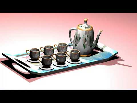 3ds max tea set modeling 3ds Max Polygon Tea Cup Modeling Tutorial with easy technique 2017