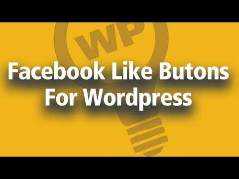 How To Add Facebook Like Button To Wordpress Website [TUTORIAL]