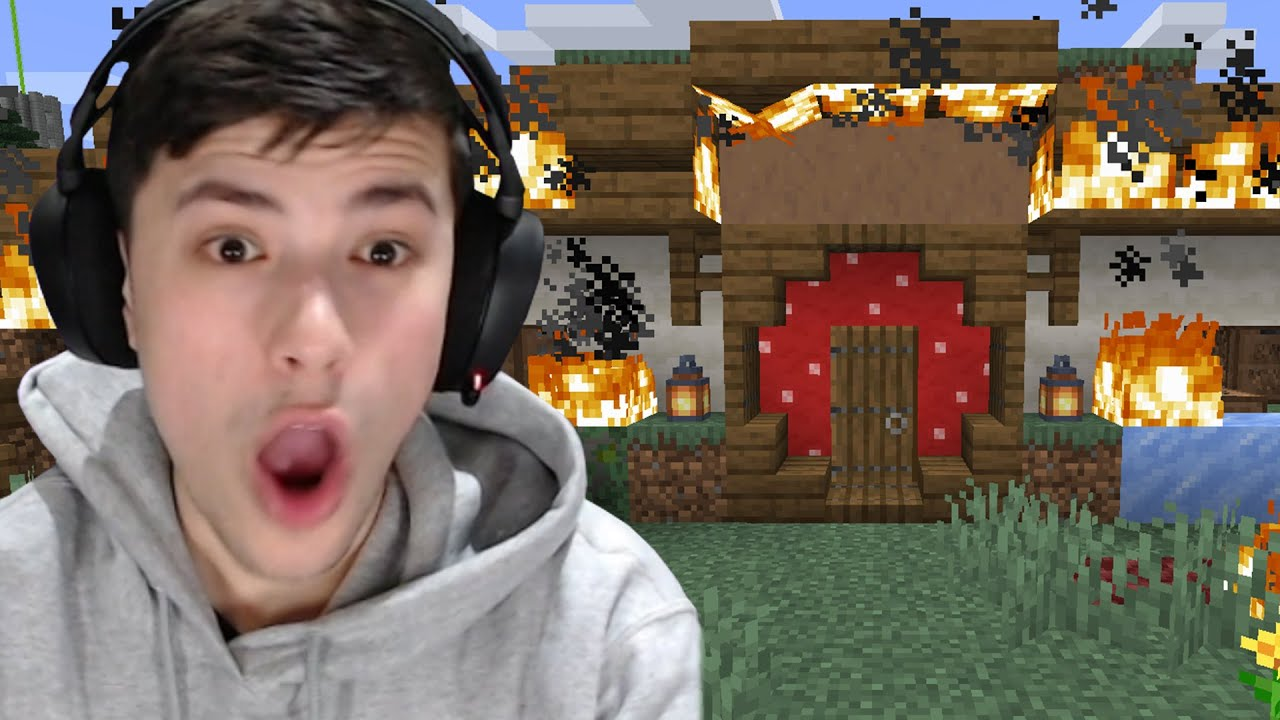 TommyInnit Burned Down My House...