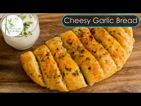 Garlic Bread Without Oven | Cheesy Garlic Bread | Garlic Bread in Kadhai ~ The Terrace Kitchen