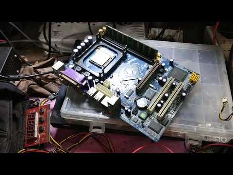 desktop motherboard repair # ddr1 P4 motherboard #no display