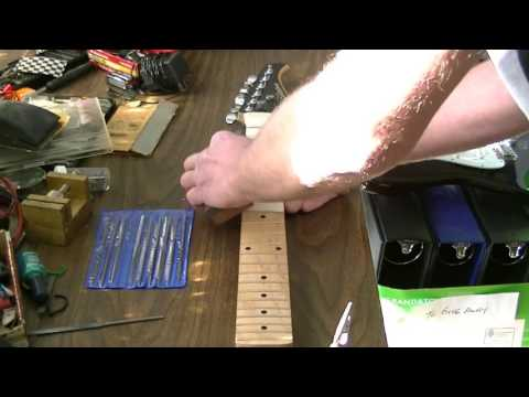 How to repair sharp guitar fret ends with simple tools