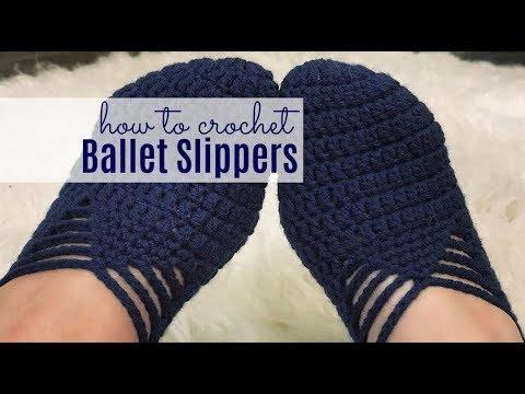 Crochet Ballet Slippers Tutorial