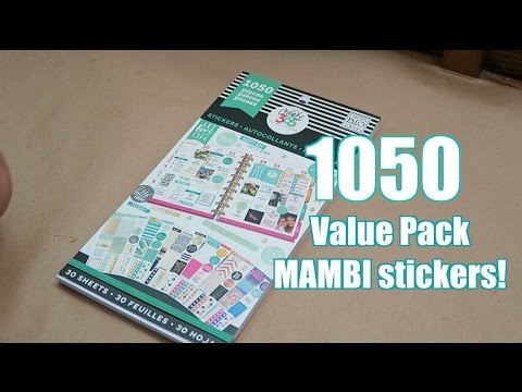 1050 Stickers! The Happy Planner