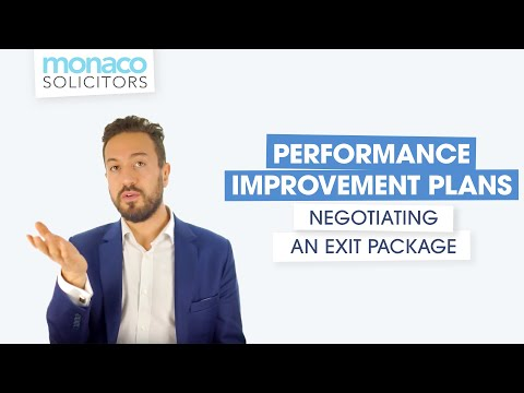 Performance improvement plans: negotiating an exit package