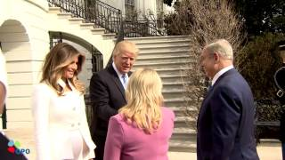 PM Netanyahu and Mrs Sara Netanyahu Arrive at the White House