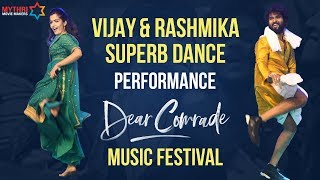 Vijay Deverakonda and Rashmika Mandanna Dance Performance | Dear Comrade Music Festival | MMM