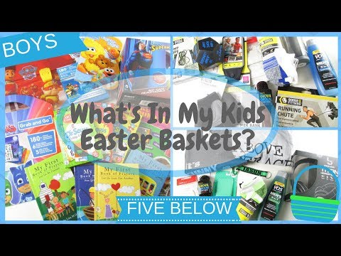 What's In My Kids Easter Baskets? Five Below | BOYS ~ Teenagers & Toddler