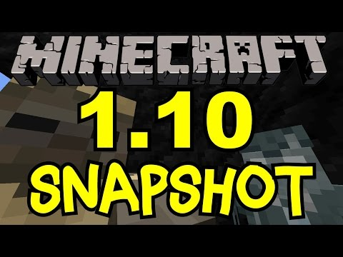 Minecraft 1.10 Update Snapshot 16W20A | New Blocks, Mobs, Stray Husk, Polar Bear, Fossils Review