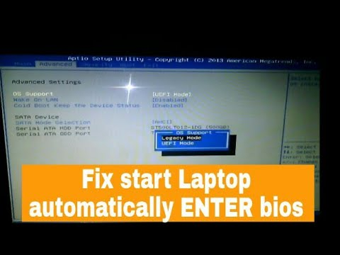HOW to Fix error automatically enter BIOS setup on acer laptop !!!