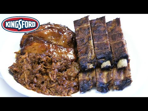 Kingsford BBQ MEAT FEAST! - WHAT ARE WE EATING?? - The Wolfe Pit