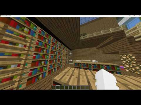Minecraft Town | Library Tour
