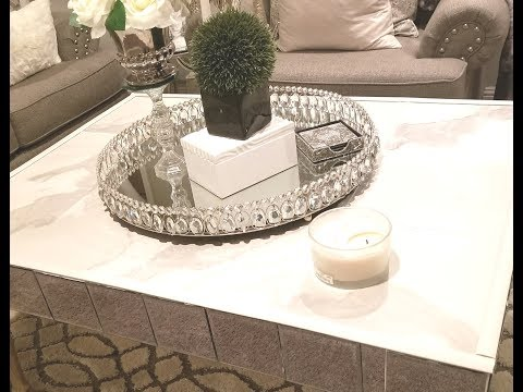 DIY GLAM MARBLE COFFEE TABLE:  No Contact Paper💗