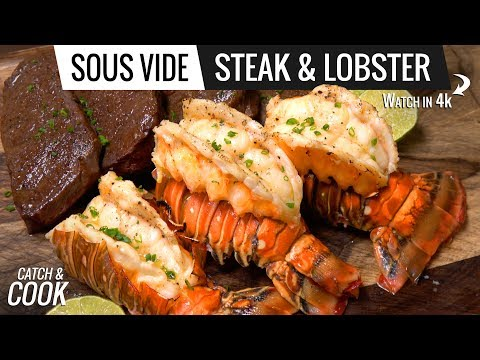 Sous Vide LOBSTER and STEAK - Catch and Cook Lobster VLOG 1