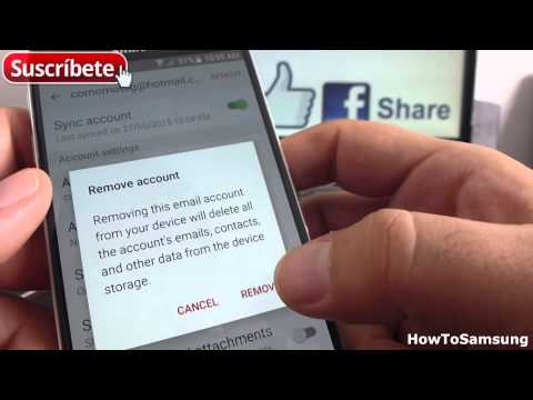 How do I Remove or Delete an Email Account Samsung Galaxy S6 Basic Tutorials