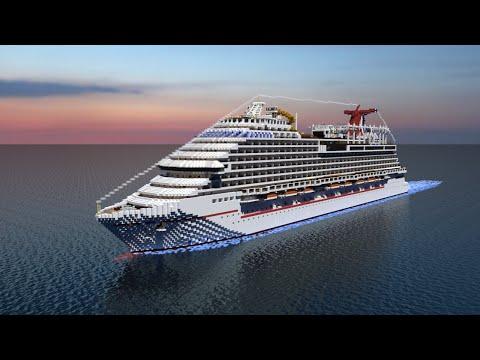 Minecraft Cruise Ship- Carnival Vista! [1:1 Scale][Full Interior][+Download]