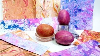 Download how to-marbleze eggs and paper Video