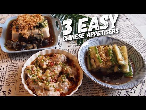 3 SUPER EASY Chinese Appetizer Recipes | DIE DIE MUST TRY!