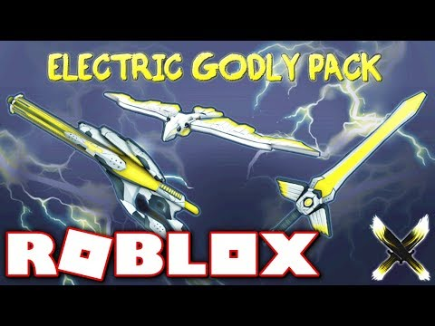 BUYING THE NEW LIMITED ELECTRIC GODLY PACK!! (Roblox Murder Mystery X)