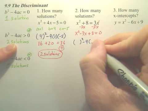 9.9 Discriminant - Algebra 1