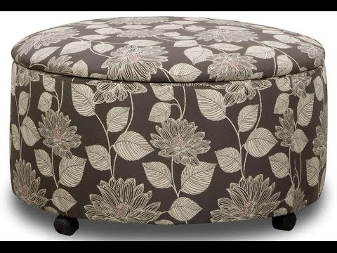 Ideas For Round Ottoman With Storage