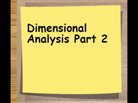 Dimensional Analysis Unit Conversion Made Easy