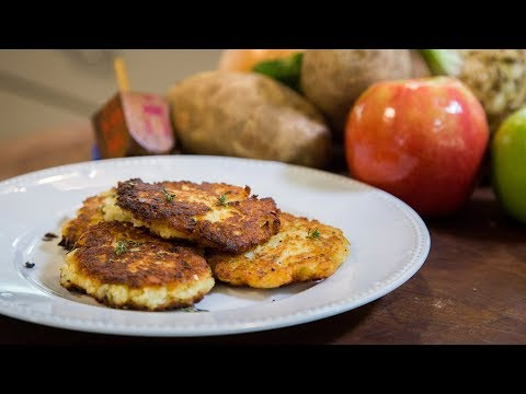 Joan Nathan's Potato Latkes with Celeriac Root and Apple