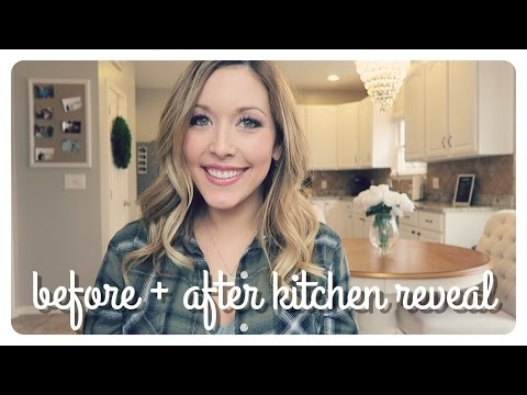 kitchen reveal | before + after - chocolate to off-white cabinets