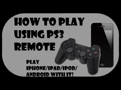 How to play iPhone/iPad/iPod with PS3 controller