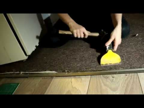 Fitting A Carpet to Laminate Door Strip | The Carpenter's Daughter