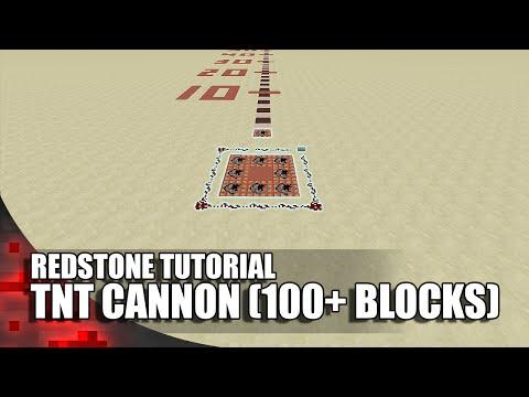 Minecraft: TNT Cannon (100+ Blocks)