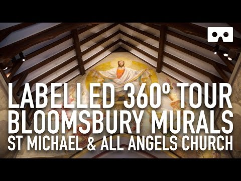 Bloomsbury Murals - St Michael and All Angels Church, Berwick - in VR 360 Video