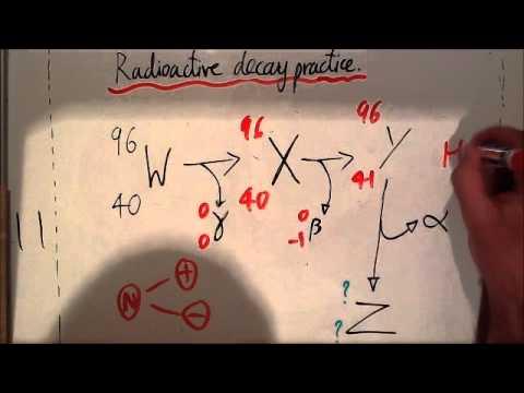 Radioactive decay practice