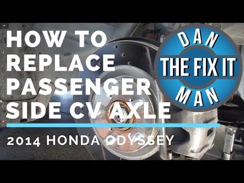 2014 Honda Odyssey - Replacing CV Axle shaft (Passenger Side)