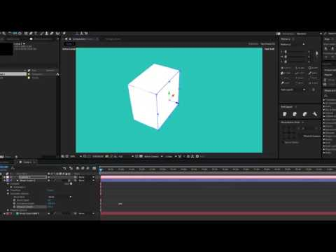 How To Extrude 2D Shapes into 3D Objects in After Effects