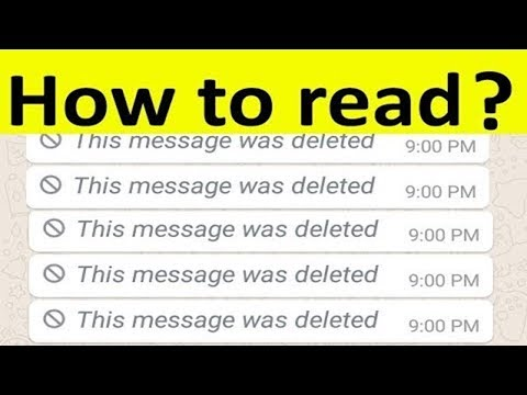 How To Read Deleted Messages On Whatsapp Messenger || This Message Was Deleted