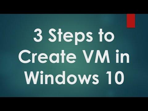 Hyper V Tutorials - 3 - How to Create Virtual Machine in Windows 10