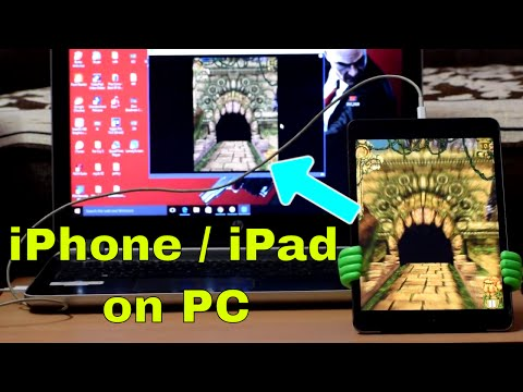 How to Mirror your iPhone , ipad Screen on PC / Laptop !! No Jailbreak !! iOS 11 , iOS10 , iOS9