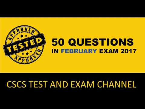50 questions of CSCS Test in Feb 2017