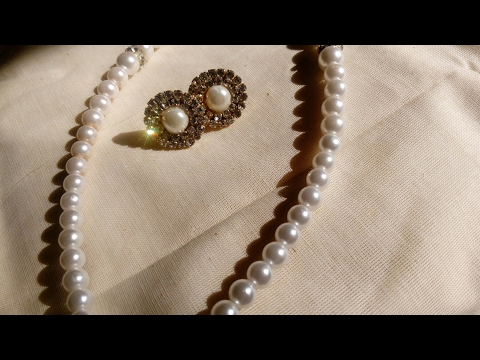 Easy way to make pearl stud earrings at home