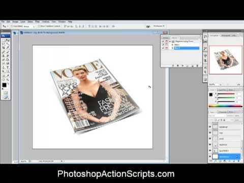 Magazine Cover Photoshop Action