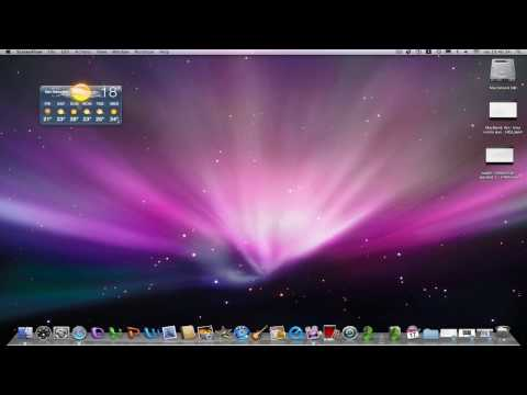 Widgets dashboard en el escritorio y Mac funcionando a camara lenta.