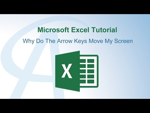 Why Do The Arrow Keys Move My Screen In Excel