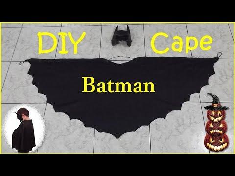 DIY Batman Cape Μπέρτα Μπάτμαν 🎃Halloween