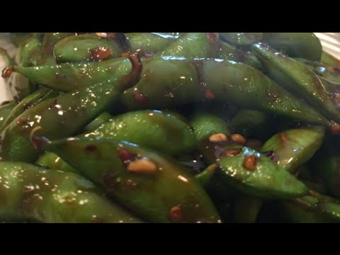 Spicy Hot Honey Glazed Asian Style Edamame