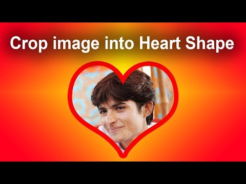 How to Crop a Photo into a Heart shape in Adobe Photoshop CS6
