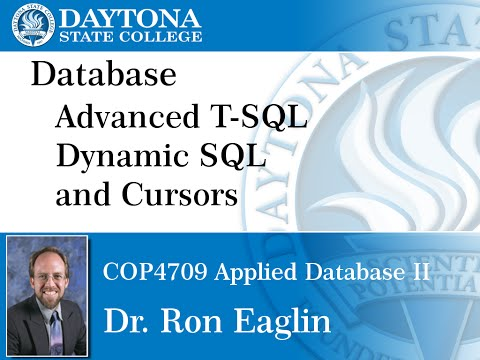 Database - Advanced Stored Procedures Cursors and Dynamic SQL